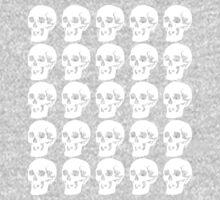 White Skulls One Piece - Long Sleeve