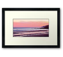 Sunrise Over Pease Bay Framed Print