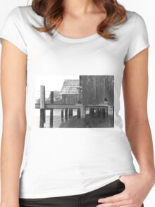 China Camp Black & White Women's Fitted Scoop T-Shirt