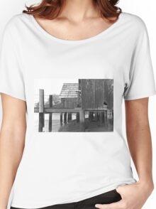 China Camp Black & White Women's Relaxed Fit T-Shirt