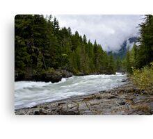 McDonald Creek Glacier NP Canvas Print