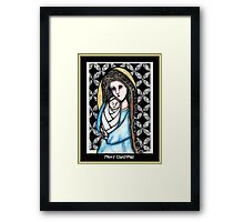 'A child is born' Christmas design Framed Print