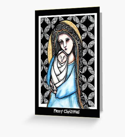'A child is born' Christmas design Greeting Card