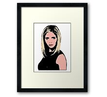 Pop Art Buffy Framed Print