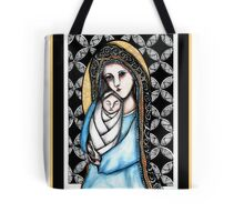 'A child is born' Christmas design Tote Bag