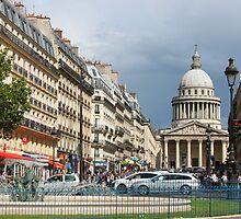 Rue Soufflot, Paris by Elena Skvortsova