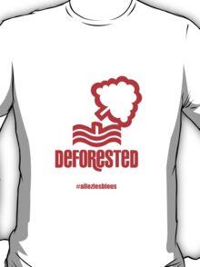 Deforested - NFFC 2 - 3 LCFC #allezlesbleus T-Shirt