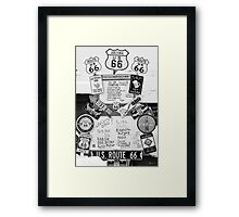 Route 66 Roadsigns Framed Print