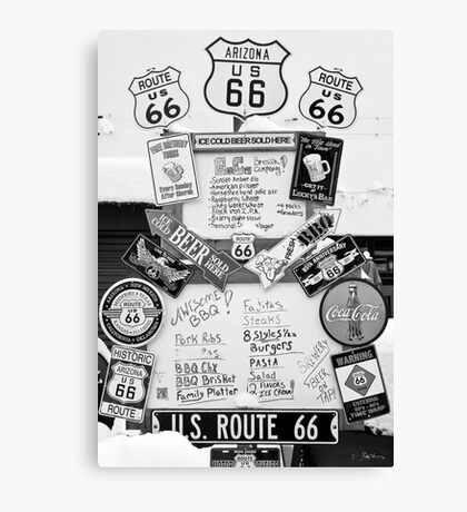 Route 66 Roadsigns Canvas Print