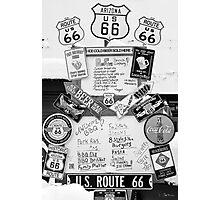Route 66 Roadsigns Photographic Print