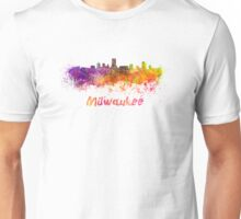Milwaukee skyline in watercolor Unisex T-Shirt