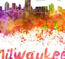 Milwaukee skyline in watercolor Sticker