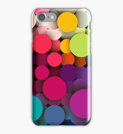 Colorful abstract geometric background with a mosaic effect with different diameter circles iPhone Case/Skin