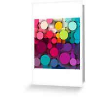 Colorful abstract geometric background with a mosaic effect with different diameter circles Greeting Card