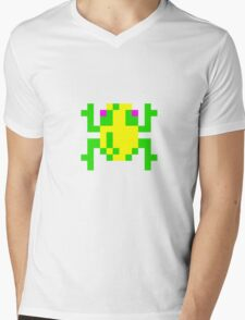 Frogger Mens V-Neck T-Shirt