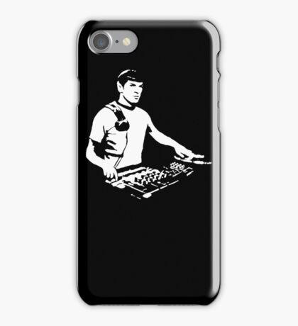 DJ Spock mixing on the decks (star trek) iPhone Case/Skin