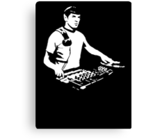 DJ Spock mixing on the decks (star trek) Canvas Print