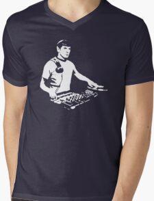 DJ Spock mixing on the decks (star trek) Mens V-Neck T-Shirt