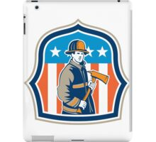 American Fireman Firefighter Fire Axe Shield iPad Case/Skin