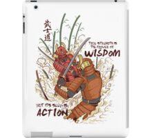 Japanese Samurai Warriors Cartoon - Bushido Code iPad Case/Skin