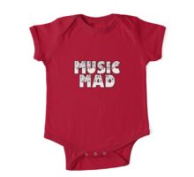 SOLD - MUSIC MAD One Piece - Short Sleeve