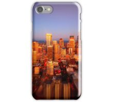 Seattle Skyline with a twist iPhone Case/Skin
