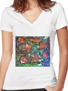 Exotic Flora Women's Fitted V-Neck T-Shirt