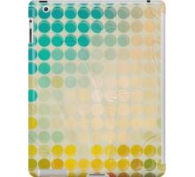 Abstract circles background with grunge paper iPad Case/Skin