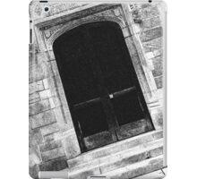 Black And White Doorway iPad Case/Skin