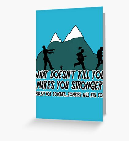 Funny Zombies  Greeting Card