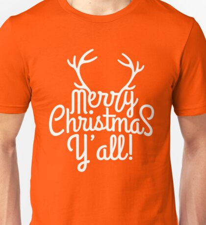 Merry Christmas Y'all Cute Southern Girl Gift  Unisex T-Shirt