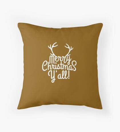 Merry Christmas Y'all Cute Southern Girl Gift  Throw Pillow