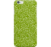 Floral green seamless pattern iPhone Case/Skin