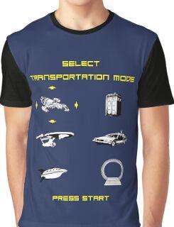 Sci-Fi Transportation Graphic T-Shirt