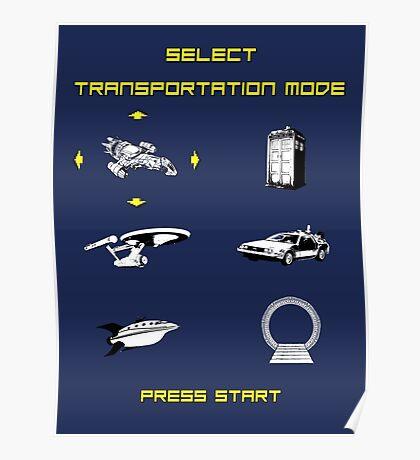 Sci-Fi Transportation Poster