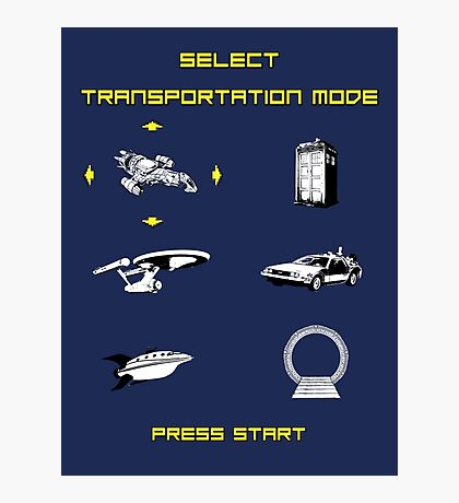 Sci-Fi Transportation Photographic Print