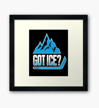 Got Ice? Framed Print