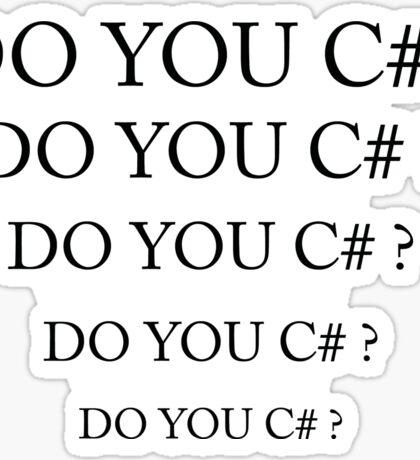 Do you C# ? Sticker