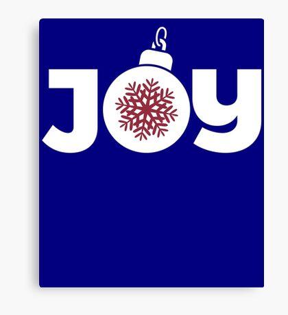 Joy Christmas Ornament Graphic  Canvas Print