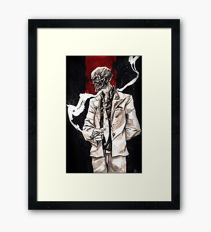 Black Mask. Framed Print