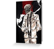 Black Mask. Greeting Card