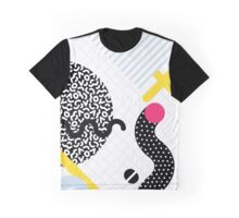 Memphis Design Pattern Snake and Worms Graphic T-Shirt