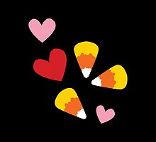 Candy Corn Halloween Hearts by jazzydevil