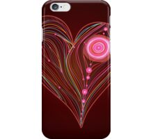Abstract vector heart iPhone Case/Skin