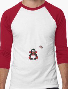 Halloween Penguin - Dracula Men's Baseball ¾ T-Shirt