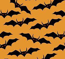 Halloween bats pattern by Richard Laschon