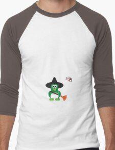Halloween Penguin - Witch Men's Baseball ¾ T-Shirt