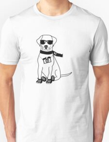 Hipster Labrador - Cute Dog Cartoon Character T-Shirt
