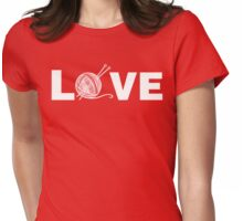 Knitting Love T-Shirt Womens Fitted T-Shirt