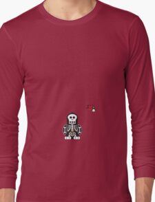 Halloween Penguin - Skellybones (Skeleton) Long Sleeve T-Shirt